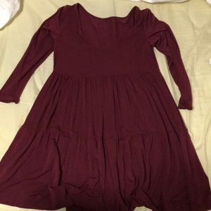 American Eagle Boho Burgundy Dress